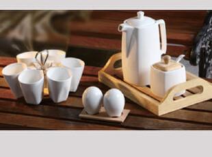 欧式咖啡杯 木托盘套装 外贸陶瓷杯子 现代简约咖啡壶 家和特价,咖啡器具,