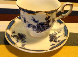 Eco cafe 欧式田园风格 蔷薇单品陶瓷咖啡杯 套装 杯碟150ml,咖啡器具,