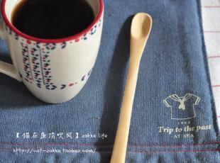 zakka杂货 清新原木cafe搅拌勺  长款,咖啡器具,