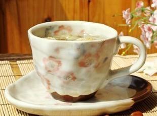 森林系/日式和风/手工粉色樱花物语咖啡杯套装/抹茶/菊花茶杯,咖啡器具,