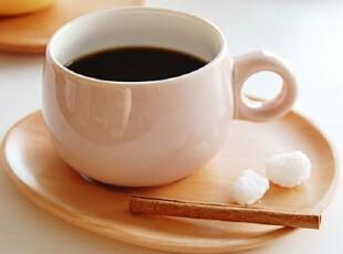 【韩国进口家居】X952 圆润陶瓷咖啡杯&木质点心盘套装 四色选,咖啡器具,