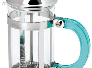 法压壶 玻璃冲茶器 咖啡冲泡壶 350CC 台湾宝马 法式滤压不锈钢架,咖啡器具,