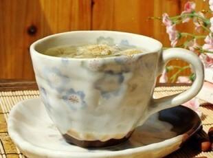 森林系/日式和风/手工紫色樱花物语咖啡杯套装/抹茶/菊花茶杯,咖啡器具,