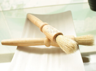 原木粉刷加长毛刷 清理咖啡磨豆机研磨机粉碎机好帮手特价,咖啡器具,