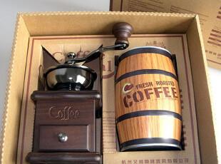 艾薇咖啡 BE8521-A手摇磨豆机+精品罐咖啡豆 礼盒 6种口味,咖啡器具,