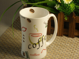亿客 简约时尚风 办公室用 Coffee高款咖啡杯 情侣马克杯,咖啡器具,