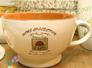 【瑕疵特卖】外贸陶瓷红土乡村风格汤杯/咖啡杯/水杯,咖啡器具,