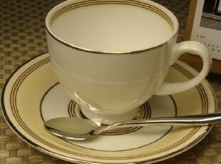 亿客咖啡 日韩简约风 优质骨瓷咖啡杯-英伦风 杯碟 套装,咖啡器具,