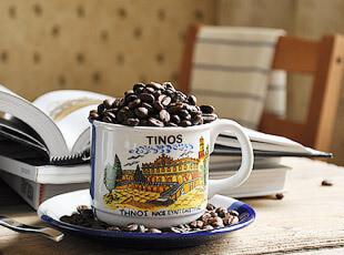 古希腊 海军风 陶瓷 咖啡杯 ( 一半海水一半蓝天),咖啡器具,