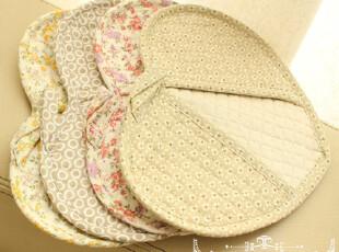 【喻小姐】日式心型布艺两用微波炉手套耐热隔热手套防烫锅垫60g,围裙,