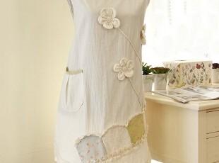 韩国进口 韩版可爱 工作服 厨房围裙厨房时尚 美容围裙SP15-3,围裙,