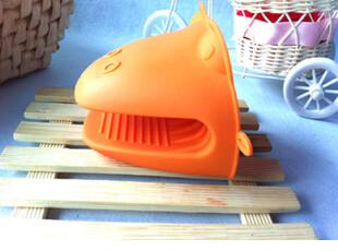 卡通青蛙硅胶隔热手套 烘焙微波炉烤箱取烤盘专用耐高温防烫手套,围裙,