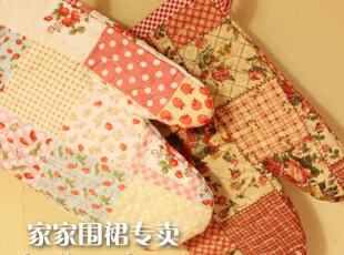 新款 防烫外贸原单布艺微波炉烤箱纯棉田园温馨可爱隔热手套,围裙,