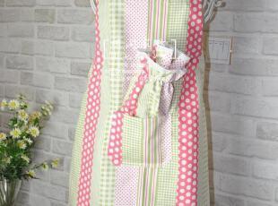 家务专用 韩式可爱/田园系列 围裙+袖套 套装【桃乐西】3色,围裙,