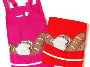 [咖啡因的糖]特惠*多色彩纯棉围裙◎牛奶面包,围裙,
