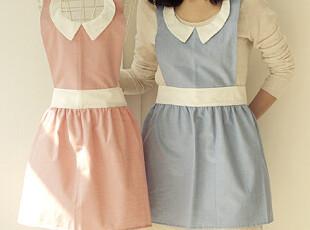 【韩国进口家居】*甜心主妇 可爱日系围裙 两色入 n1214,围裙,