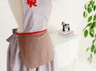 韩版可爱 厨房 咖啡厅围腰 田园围裙工作服时尚美容围裙,围裙,