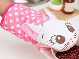 懒角落★创意家居 可爱小猫 加厚防烫微波炉手套 隔热手套 35438,围裙,