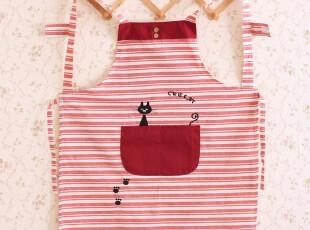 9605*韩版时尚围裙 反穿衣 工作服 居家围裙(三色入),围裙,