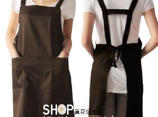 围裙 韩 版 可爱 工作服 日本 外贸 时尚围裙 男女咖啡色 代印刷,围裙,