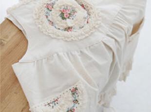 『韩国进口家居』n1254 经典玫瑰图案*原生棉围裙*,围裙,