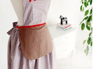 「朱朱家园」韩国直送*春天华尔兹*咖啡杯围裙/美容工作服B2470,围裙,