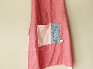 SNO生活布艺◢棉麻 拼布 牛仔红◆围裙,围裙,