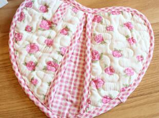 蒂亚娜 小红莓爱心微波炉手套 隔热手套 垫 韩式加厚,围裙,