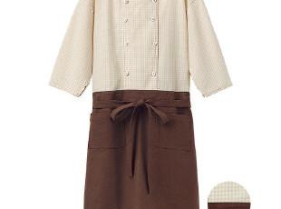 【柒夜家】外贸原单 日单 芬家 棉麻 乡村风 长袖围裙 罩衣家居服,围裙,
