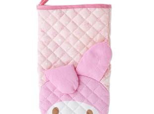 【预定】日本SANRIO正品melody美乐蒂可爱带耳朵粉色隔热手套,围裙,
