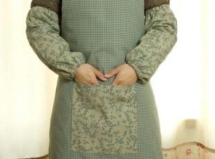 美式田园/乡村 围裙 65x70 含袖套 灰绿色,围裙,