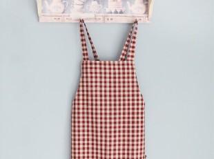 韩版可爱 厨房 咖啡厅围腰 田园围裙工作服时尚美容围裙(2色),围裙,
