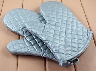 烘焙工具 耐高温手套 烤箱手套 微波炉手套 隔热手套 银色1双,围裙,