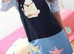 专柜代购日本kiro猫卡拉猫【可爱厨神猫咪全棉手工围裙】KC139,围裙,