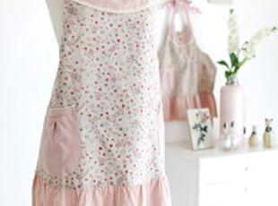 *韩国进口家居*田园风碎花格子纯棉布艺围裙 n1129,围裙,