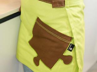 全新设计 创意家居 布艺 半身围裙2012新款,围裙,