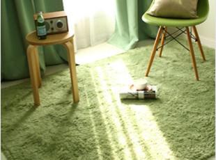 韩国代购进口新婚蜜月礼品毛绒棉质方形卧室客厅防滑地毯地垫5色,地毯,