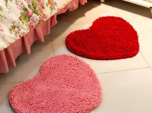 超细纤维雪尼尔客厅卧室地毯桃心形门垫吸水防滑浴室地垫脚垫,地毯,