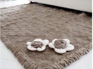 韩国进口代购短绒客厅卧室咖啡色飘窗垫沙发垫 防滑大地垫,地毯,