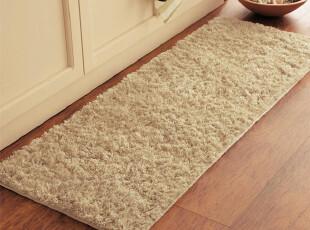 高档柔软长绒弹力卧室床前垫厨房飘窗超强防滑地毯地垫45*120,地毯,