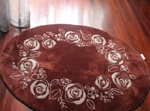 椭圆形玫瑰花地毯.卧室地毯.婚房地毯.客厅地毯.130*185cm,地毯,