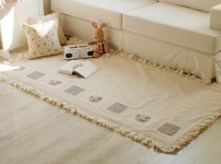 「echo house 」♥韩国家居直送♥ 田园乡村怀旧米色地垫 地毯,地毯,