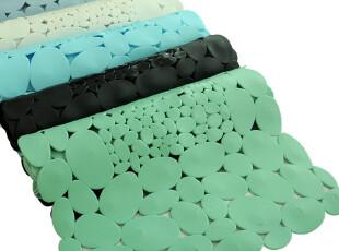 ROBO方形地毯鹅卵石 卫浴淋浴间防滑加厚PVC地垫 浴室防水带吸盘,地毯,