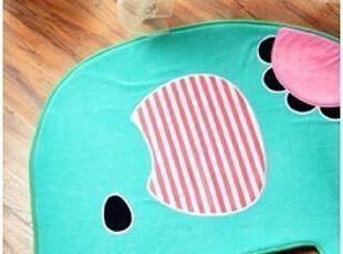 日本家居 清新冰激凌薄荷色马戏团新宠可爱马戏象 地垫 脚垫 门垫,地毯,
