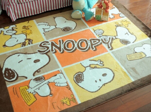 7折特价 加厚型史努比地毯 宝宝爬行地毯 最新环保材料防摔地毯,地毯,