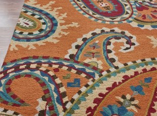 【纽约下城公园】灿烂夏花纯羊毛地毯(四色可选 2种尺寸),地毯,