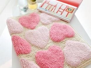 【Asa room】韩国进口代购地毯 桃心图案可爱粉色卧室脚地毯d113,地毯,