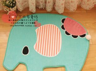 日单 San-x 忧伤马戏团 可爱小象 卡通居家地垫毛绒门厅地垫,地毯,