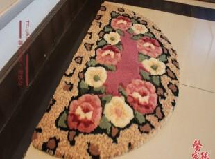 美丽花朵地毯.门垫.脚垫.防滑地垫.半圆地垫.厨房地垫,地毯,