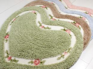 小艾家居 心型可爱 超细纤维进门地垫入户门垫子 浴室防滑垫地垫,地毯,